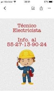 Técnico electricista, estado de méxico