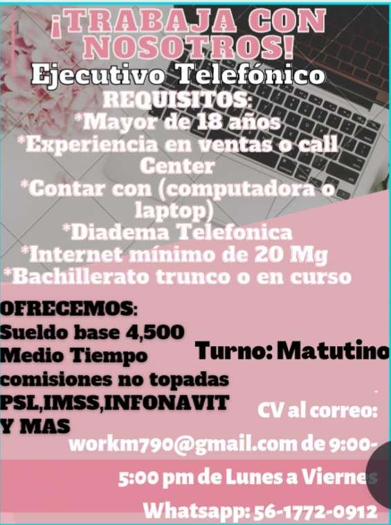 Operador tele marketing matutino