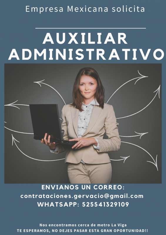 Solicitamos auxiliares administrativos