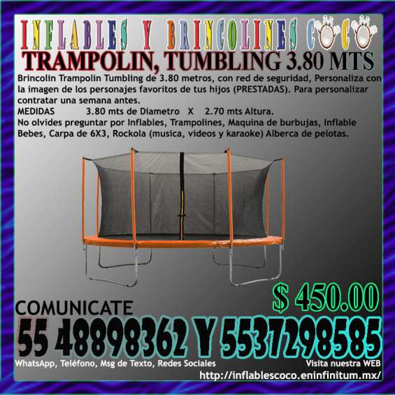 Renta brincolin (trampolin) tultitlan coacalco tultepec